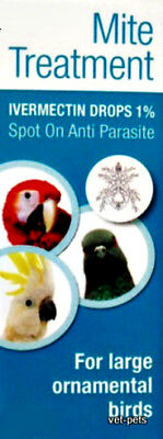 10ml Ivermectin 1% Drops for Large Birds - best price