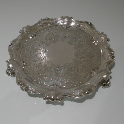 Early 20th Century Antique Edwardian Sterling Silver Salver London 1904 Barnards