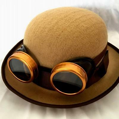 Brown Black Steampunk Welding Cup Goggles - 50mm Eye Cup HOT SALE