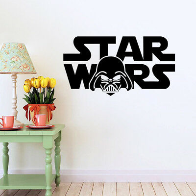 Star Wars character words removable kids room wall sticker Decal
