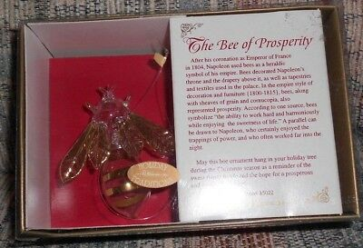 THE BEE OF PROSPERITY Christmas Ornament ROMAN INC c. 1997 In Box NEW Free Ship