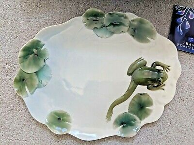 RETIRED FRANZ FINE PORCELAIN *Amphibia* LARGE 3D FROG TRAY MIB