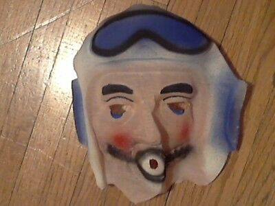 Halloween mask vintage 40s-50s cheesecloth gauze PILOT unused perfect condition