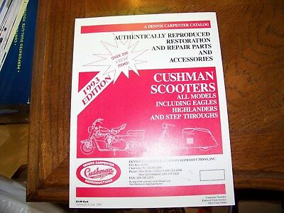 1993 Cushman Scooters Catalog Repair Parts And Accessories