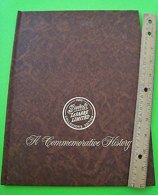 1985 Hardcover BUICK & LeSABRE COMMEMORATIVE HISTORY BOOK Collector Edition XLNT