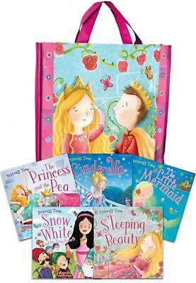 Princess Time Collection 5 Books Set in a Bag Children Gift Pack Little Mermaid
