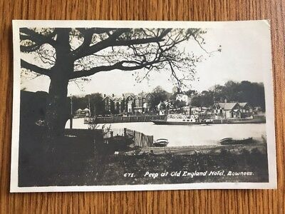 RPPC, Peep at Old England Hotel, Bowness, Postmarked 1922 Westmorland