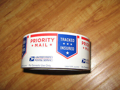 "⭐NEW⭐ 250 count USPS Priority Mail Stickers Tape Roll (size: 3"" x 1-7/8"" ea.)"
