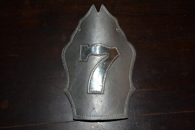 Vintage Firefighter Fire Helmet Shield Metal Wow!!!