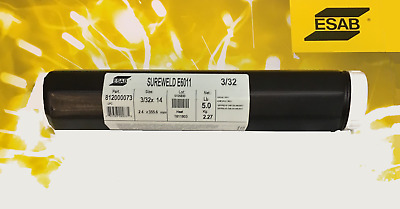 "ESAB Sureweld 812000073 6011 3/32"" Stick Electrodes Welding Rods"