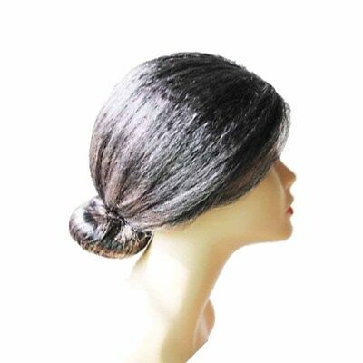 Hot Old Lady Grandma Hairpieces Dames Gris Court Fantaisie Robe Perruque