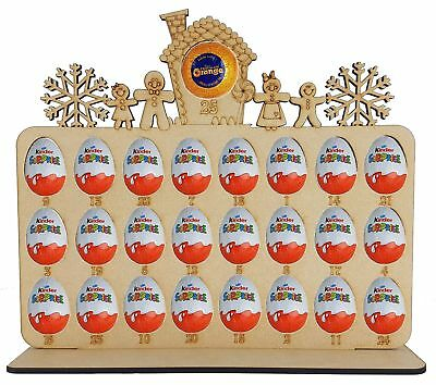 Gingerbread Family Advent Calendar Fits Terry Chocolate Orange & Kinder Egg