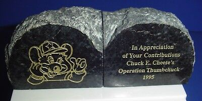 VINTAGE Chuck E Cheese Marble Stone 1995 Operation Thumbchuck Appreciation