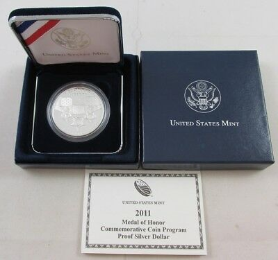 2011-P Medal Of Honor Commemorative Coin Program Proof Silver Dollar