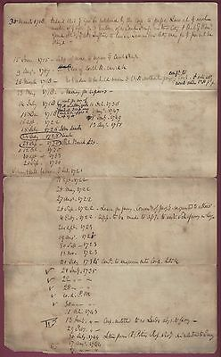 Philadelphia Colonial Era Document from 1775, Schuylkill Ferry, Court House