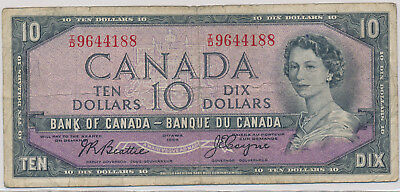 Bank Of Canada Devils Face 10 Dollars 1954 Id9644188