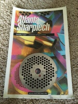Atlanta Sharptech Double Cut Throwaway Meat Grinding plate System