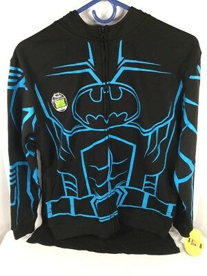 Batman Hooded Masked Glow In The Dark Sweatshirt With Cape Attached Boys L (s16)