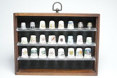 Thimble Collection + display case