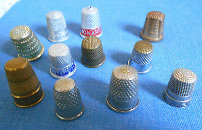 Eleven THIMBLES -varied in size/quality/age/worth