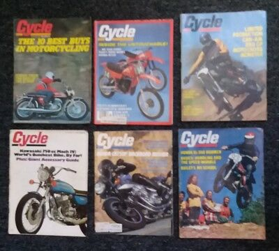 CYCLE-lot of 6 mags from the 70's!-motorcycle magazine madness!