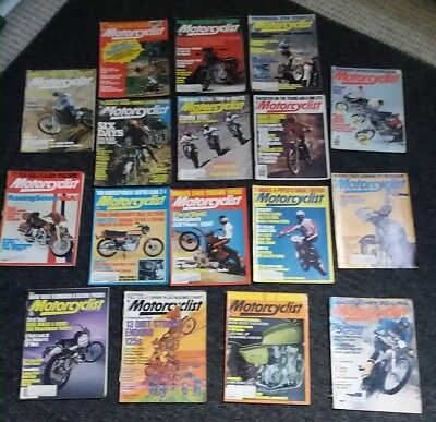 MOTORCYCLIST-lot of 17 mags from the 70's!-motorcycle magazine madness!