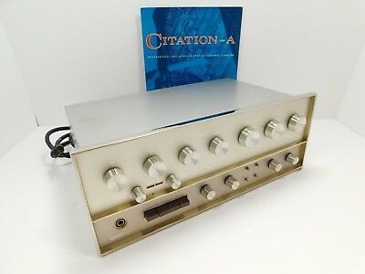 Harman Kardon Citation A Stereo Preamplifier for Parts or Restoration SN 6250488