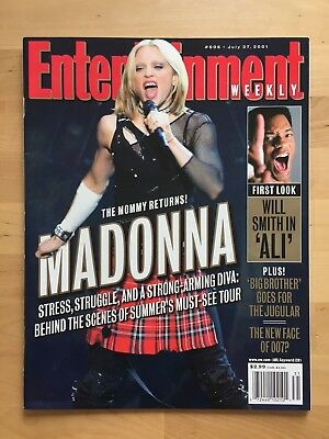 Madonna Cover Magazine Entertainment Weekly 2001 Usa Drowned World Tour Music