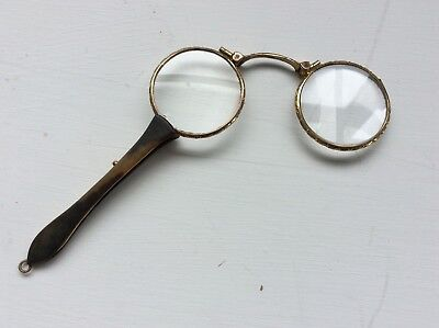 Antique Gold Plated And Faux Tortoiseshell Spring Action Lorgnettes #2