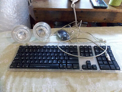 Apple Pro USB Computer Keyboard M7803, Mouse M5769, Speakers M6531