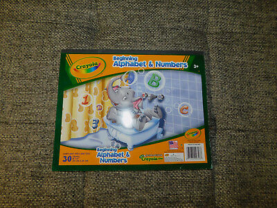 2008 Crayola Alphabet and Numbers for 3 and Up Writing Pad