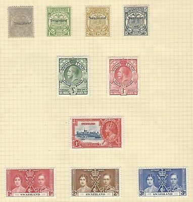 SWAZILAND 1889-1937 collection early mint stamps to 5/- incl opts, high CV
