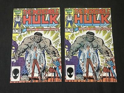 Two Copies Incredible Hulk 324 First Appearance Of Gray Hulk Marvel Comics