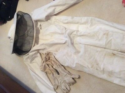 Child's Bee Keeping Suit And Leather Gloves Age 6-7