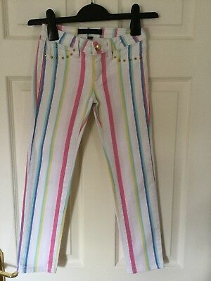 Girls Juicy Couture Striped Jeans - Age 6-8 Years