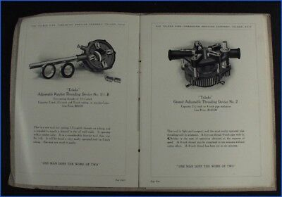 "Vintage Toledo Pipe Threading Devices ""one Man Does The Work Of Two"" Booklet"
