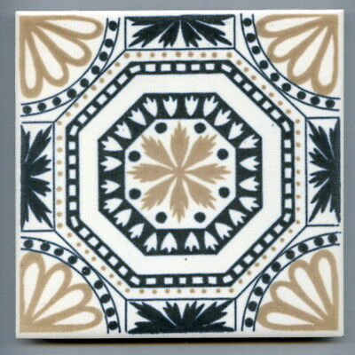 "Screen printed 6"" square Vintage tile by H&R Johnson, 1967"