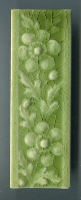 "Relief moulded 6""x2"" border tile by American Encaustic Tiling Co, USA c1890s"