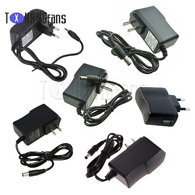 EU/US Plug AC 100-240V to DC 12V 9V 5V 1A 2A Power Supply Converter Adapter ATF