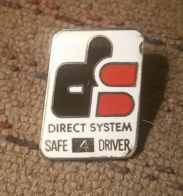 DIRECT SYSTEM 4 yr Service Safe Driver Award Trucker Trucking Truck Pin