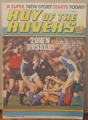 ROY OF THE ROVERS  25th April 1981 The Hard Man MIghty Mouse Tommy's Troubles