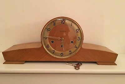 Fabulous Antique Vintage German Art Deco Mantel Clock Westminster