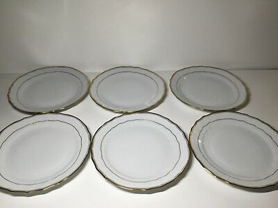 Herend Golden Edge Set of 6 Footed Cranberry Ice Cream Dessert Bowls 1364 HD