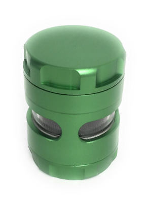 NEW Aluminum Alloy Herb Grinder 2 Inch 5 Piece Tobacco Spice Removable Screen