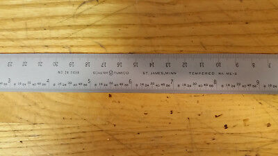 Scherr Tumico model 24 0458 12 Inch  Machinist Ruler