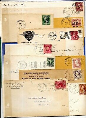 Us Postal History-- Collection Builder Lot Of 10 Different Early Covers  (N4132)