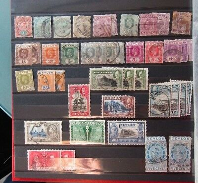 Commonwealth Ceylon clearance of stamps from Queen Victoria to George VI