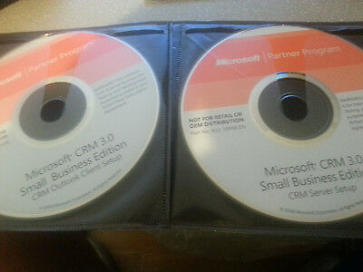 Vintage Microsoft CRM Server 3.0 Small Business Edition CD W/Product Key