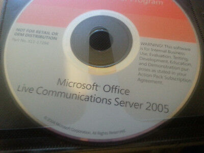 Vintage Microsoft Office Live Communications Server 2005 W/Product Key