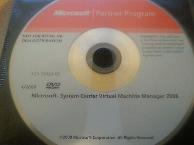 Microsoft System Center Virtual Machine Manager 2008 CD disk W/Product Key